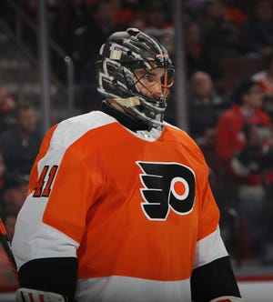 Anthony Stolarz got the start on Tuesday for the Flyers. Perhaps he gets a look whenever the Flyers' next general manager takes over.