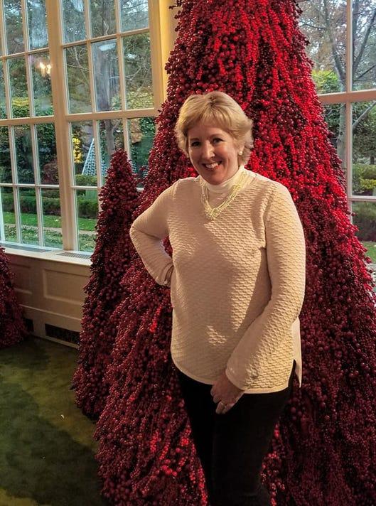 Vicki With Favorite Tree