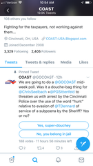 A now deleted COAST poll