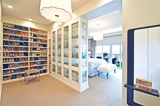 One of three bedrooms with a massive walk-in closet