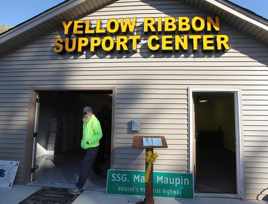 In October 2013, volunteers did a total home makeover for Keith Maupin and converted his garage into the Yellow Ribbon Center. Maupin has been running the center out of a storefront. Maupin's son, Staff Sgt. Matt Maupin, was captured in Iraq in 2004. His remains were found in March 2008.