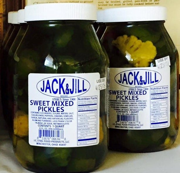 Jack and Jill Sweet Mix Pickles