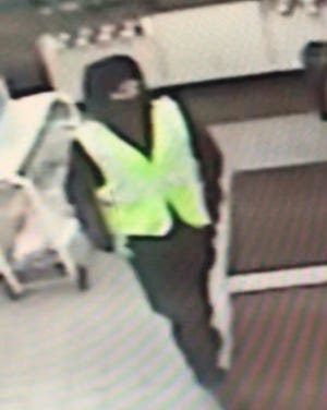 A $500 cash reward is being offered for information that leads to the identification and arrest of this man who is wanted in connection with a Hunterdon County armed gas station robbery.