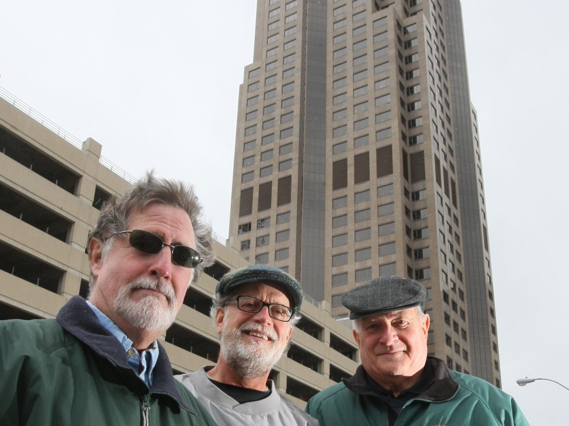 Ed Kelly, left, Jerry Grady and Bill McCarthy were organizers for the 2013 St. Patrick's Day parade, which will travel along Grand Avenue this year. (Mary Chind/The Register)