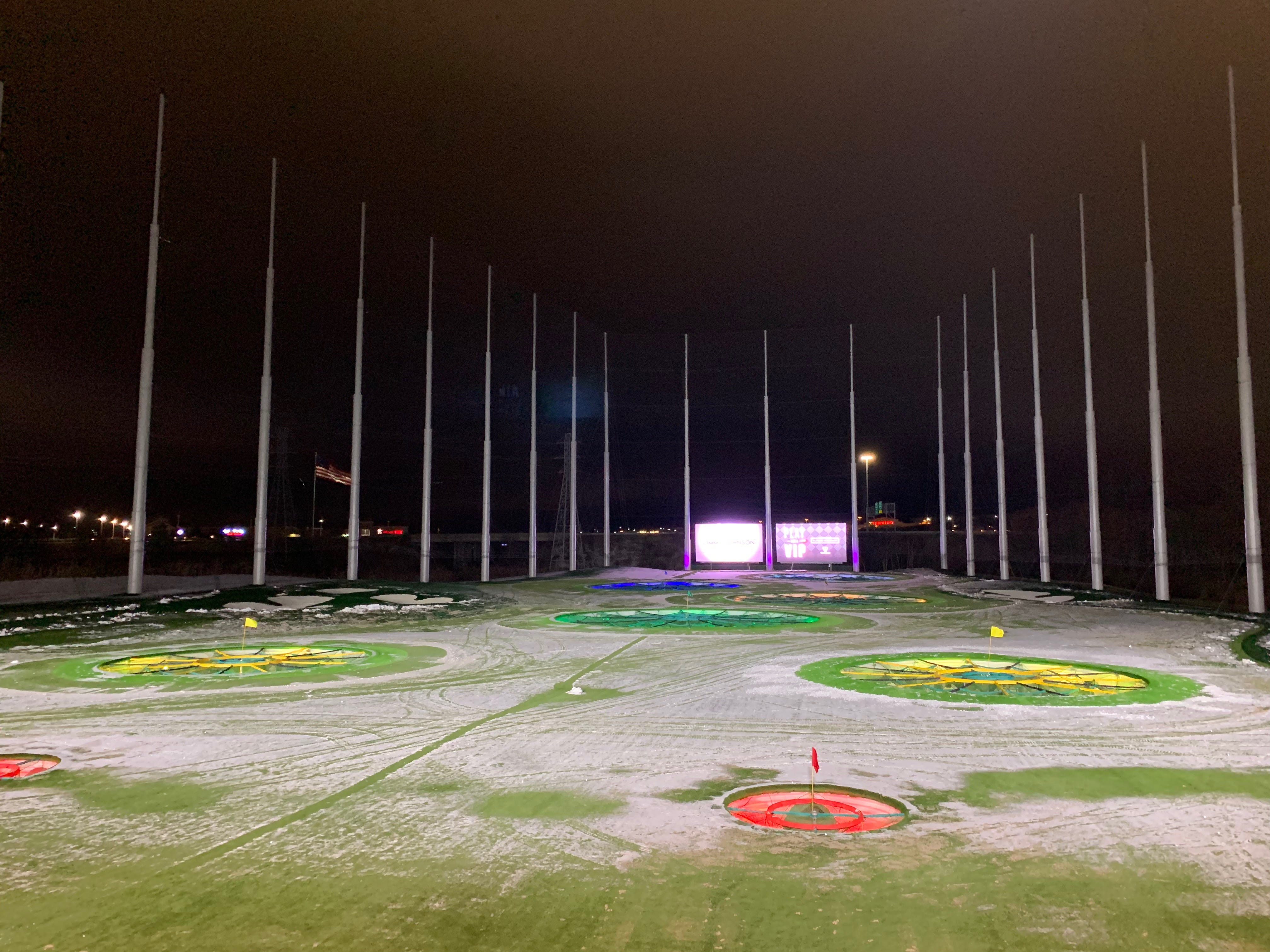 A look at the 215-yard range at the Topgolf Auburn Hills location near Great Lakes Crossing on Wednesday November, 28, 2018.