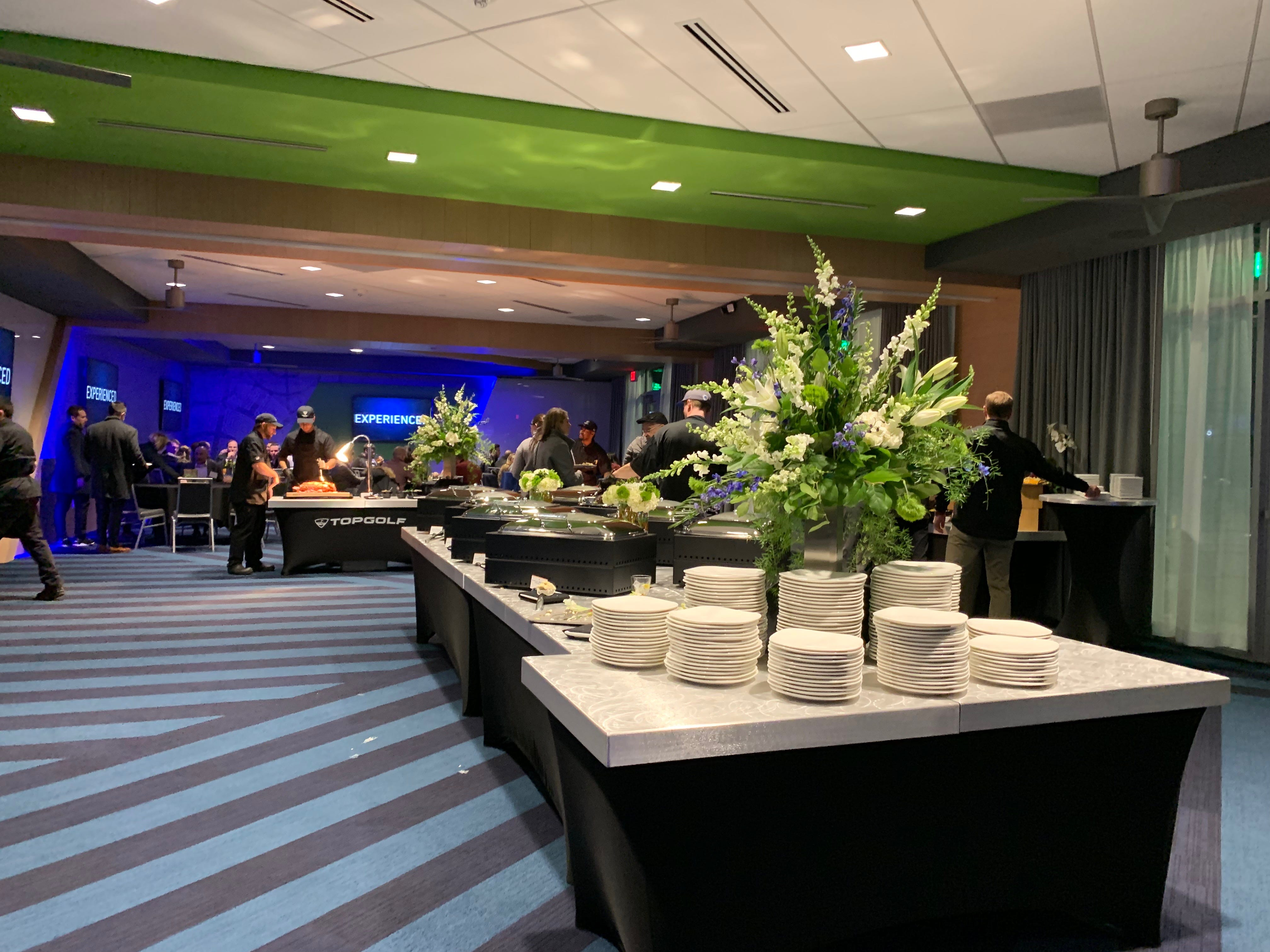 The party room for special events like, graduations, bachelor parties or corporate outings at the Topgolf Auburn Hills location on Wednesday November, 28, 2018.