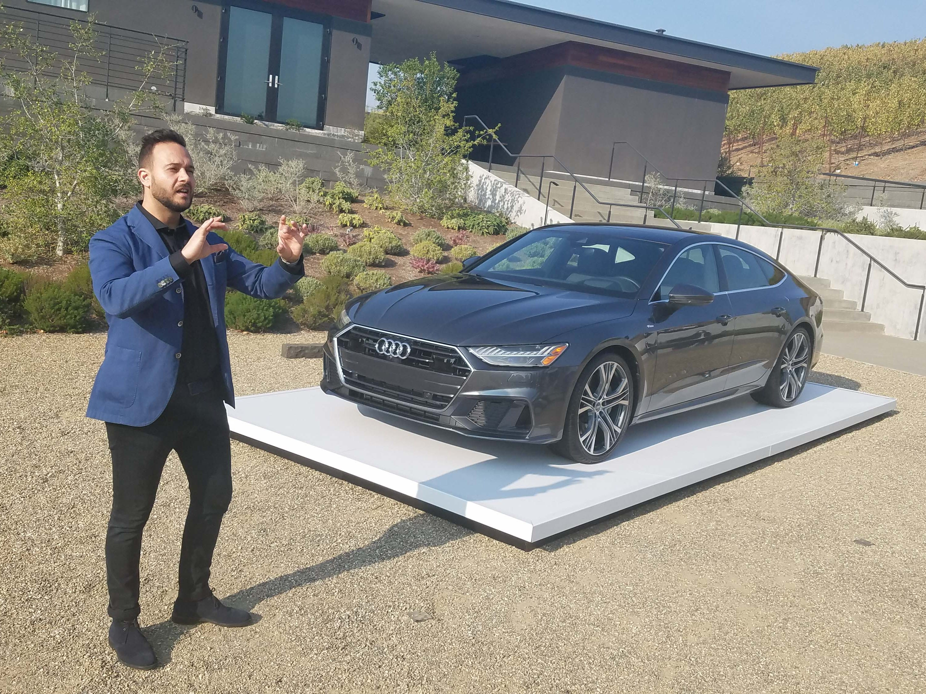 Audi A7 designer Sebastiano Russo, 36, penned the second generation of the iconic sportback sedan. In Napa Valley he gives a tour of his masterpiece.
