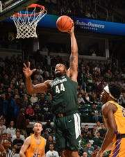 Michigan State junior center Nick Ward has seen a slight increase in minutes this season.