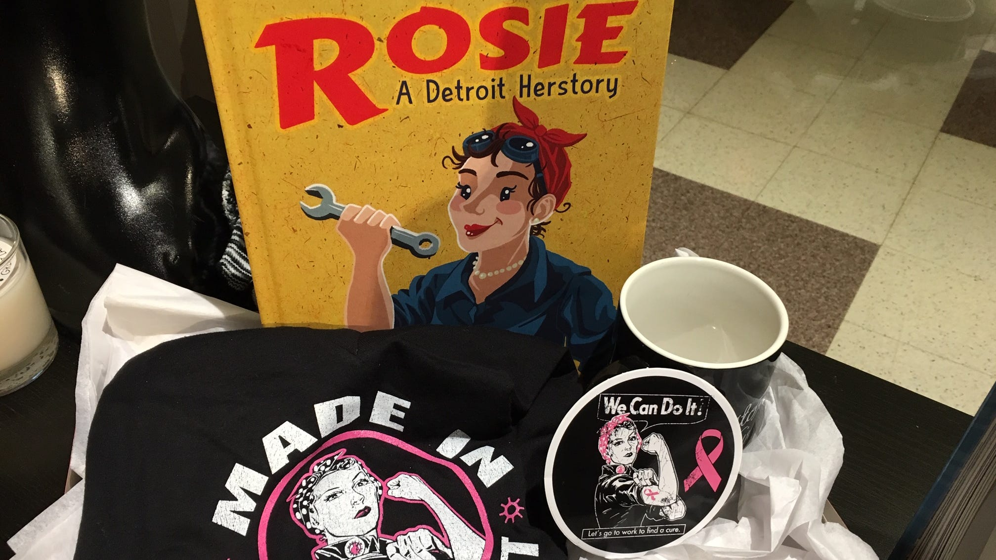"A ""Rosie"" cornucopia at the Detroit Historical Museum."