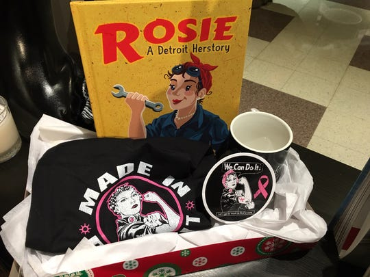 "A ""Rosie"" cornucopia at the Detroit Historical Museum."