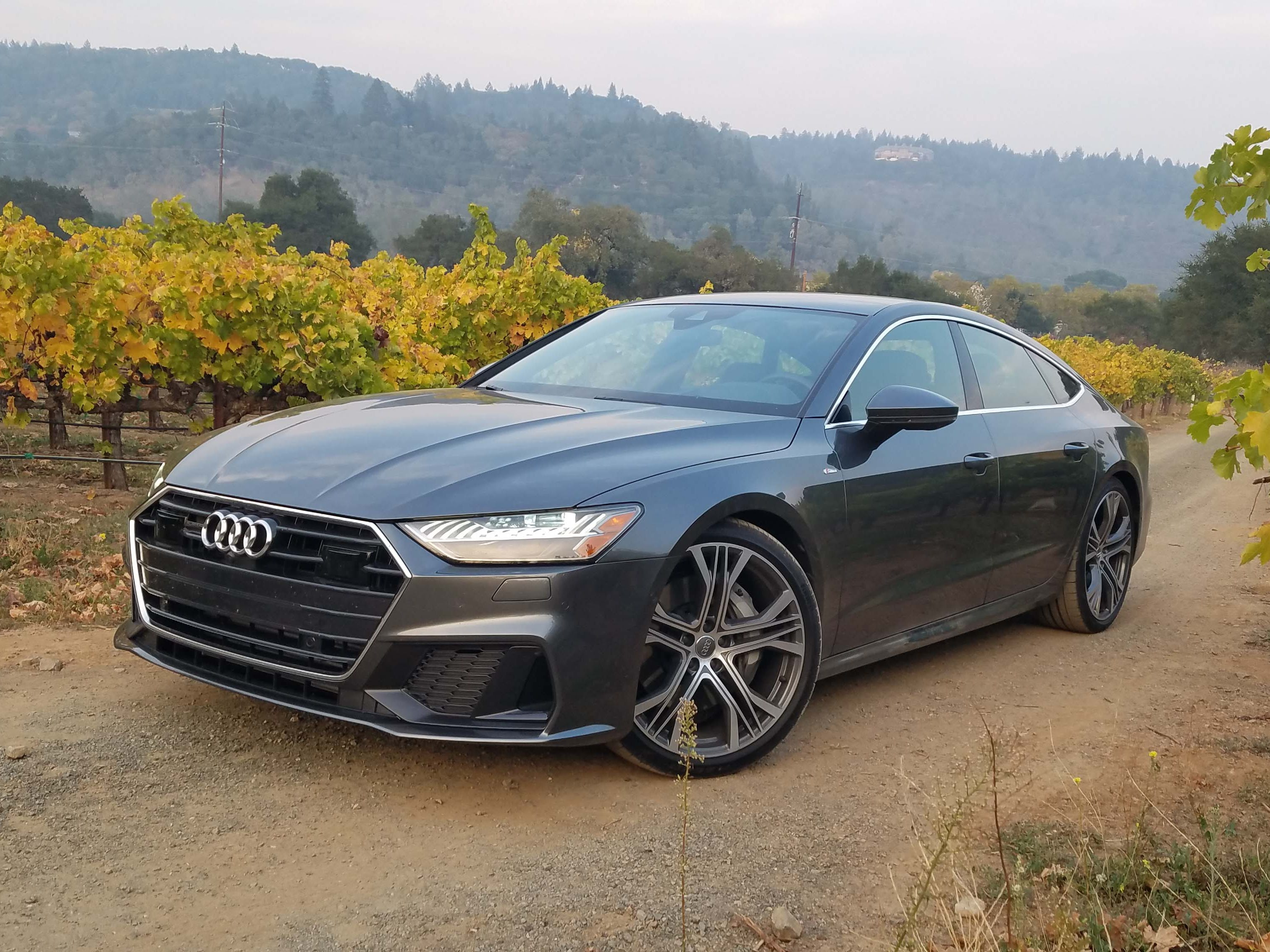 The 2019 Audi A7 shares the bones and engine of sibling Audi A6, but gets its own sheet metal and an $8,000 price tag increase.