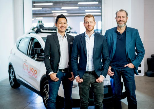 "GM Cruise LLC CEO Dan Ammann, right, is fond of saying competitors in the autonomous-vehicle space are ""in a race to the starting line."""