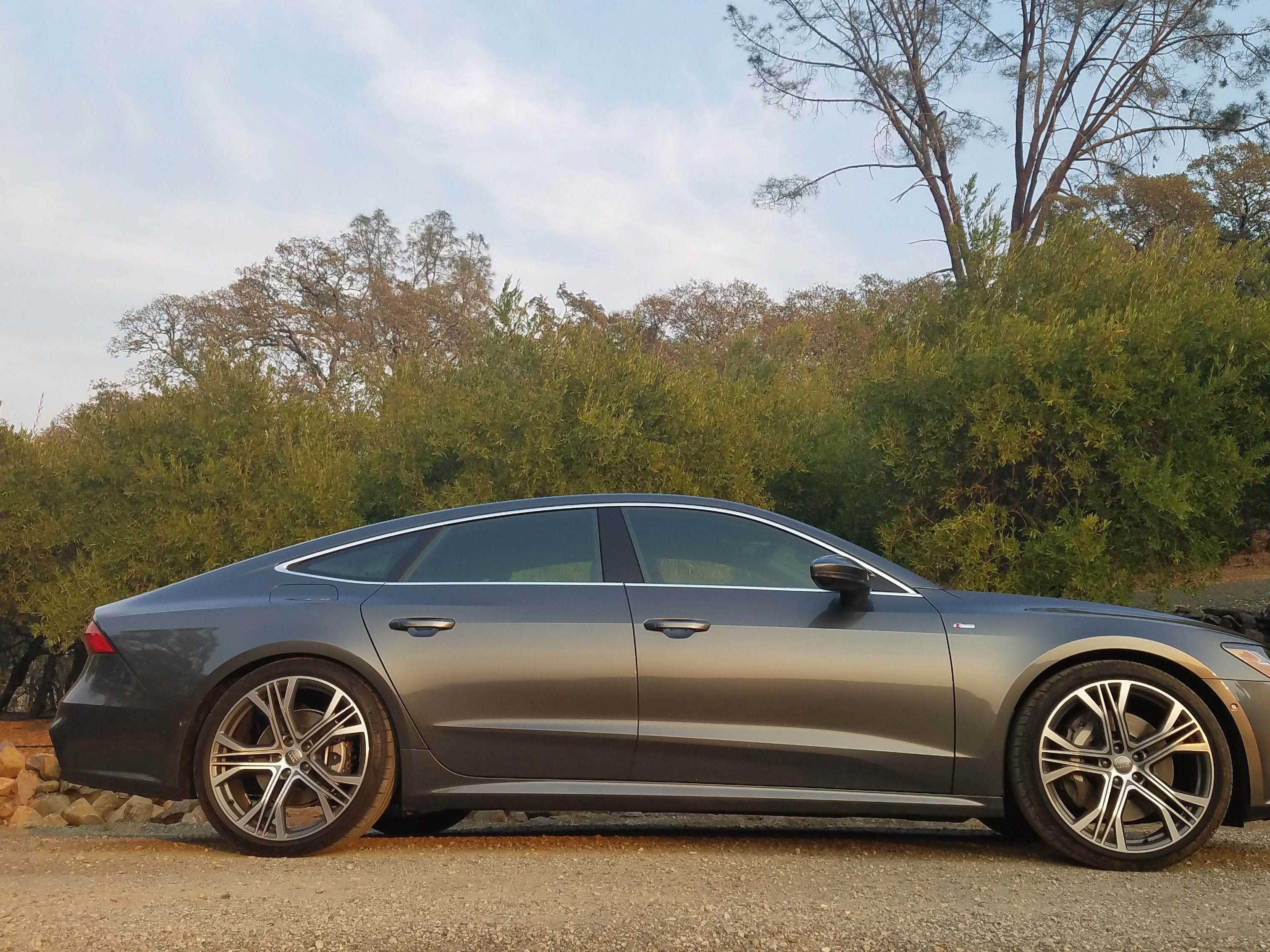 """I got the gift of 21-inch wheels,"" says Audi A7 exterior designer Sebastiano Russo. Designers love big wheels, and the new set complements the big sedan's fastback lines."