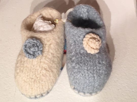 Baby booties to die for at Detroit Artist Market -- $22 from Christina Towell.