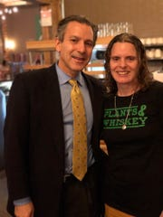 GreenSpace Cafe owner Dr. Joel Kahl and chef and nutrition expert Amber Poupore.
