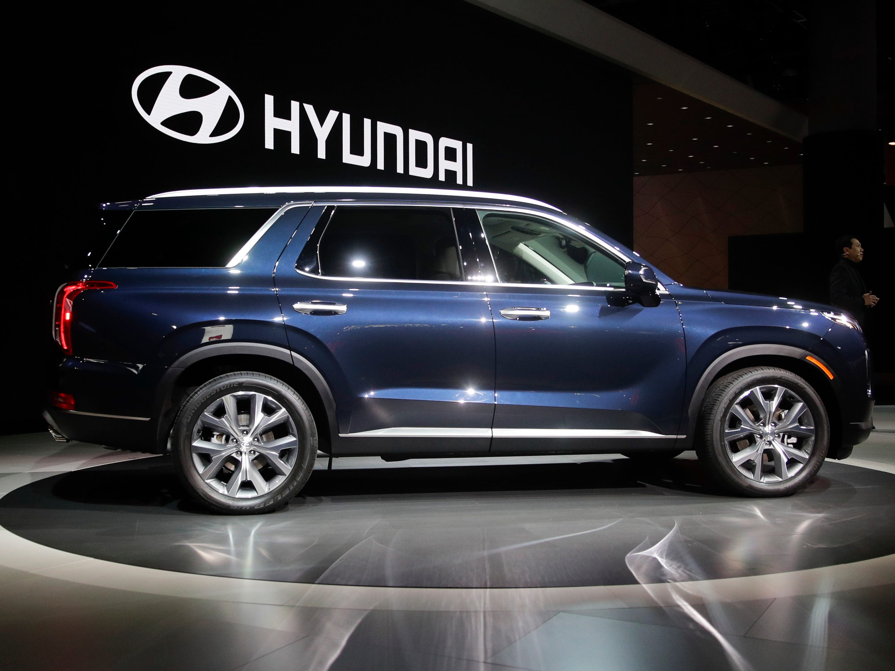 The 2020 Hyundai Palisade - the brand's first three-row SUV - is introduced at the Los Angeles Auto Show.