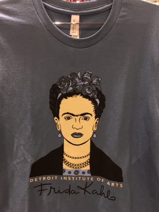 Be fearless in a Frida Kahlo T-shirt available at the Detroit Institute of Arts at $24.95.