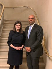 U.S. Reps.-elect Haley Stevens of Michigan and Colin Allred of Texas were elected co-presidents of the House Democrats' freshman class on Wednesday, November 28, 2018.