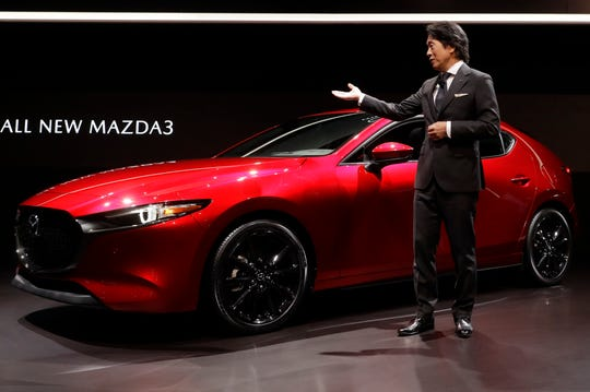 President and CEO of Mazda North American Operations, Masahiro Moro, talks about the Mazda3 at the Los Angeles Auto Show. The all-new 3 sits on a new chassis with a powerful, fuel-efficient new SkyActive engine coming soon.