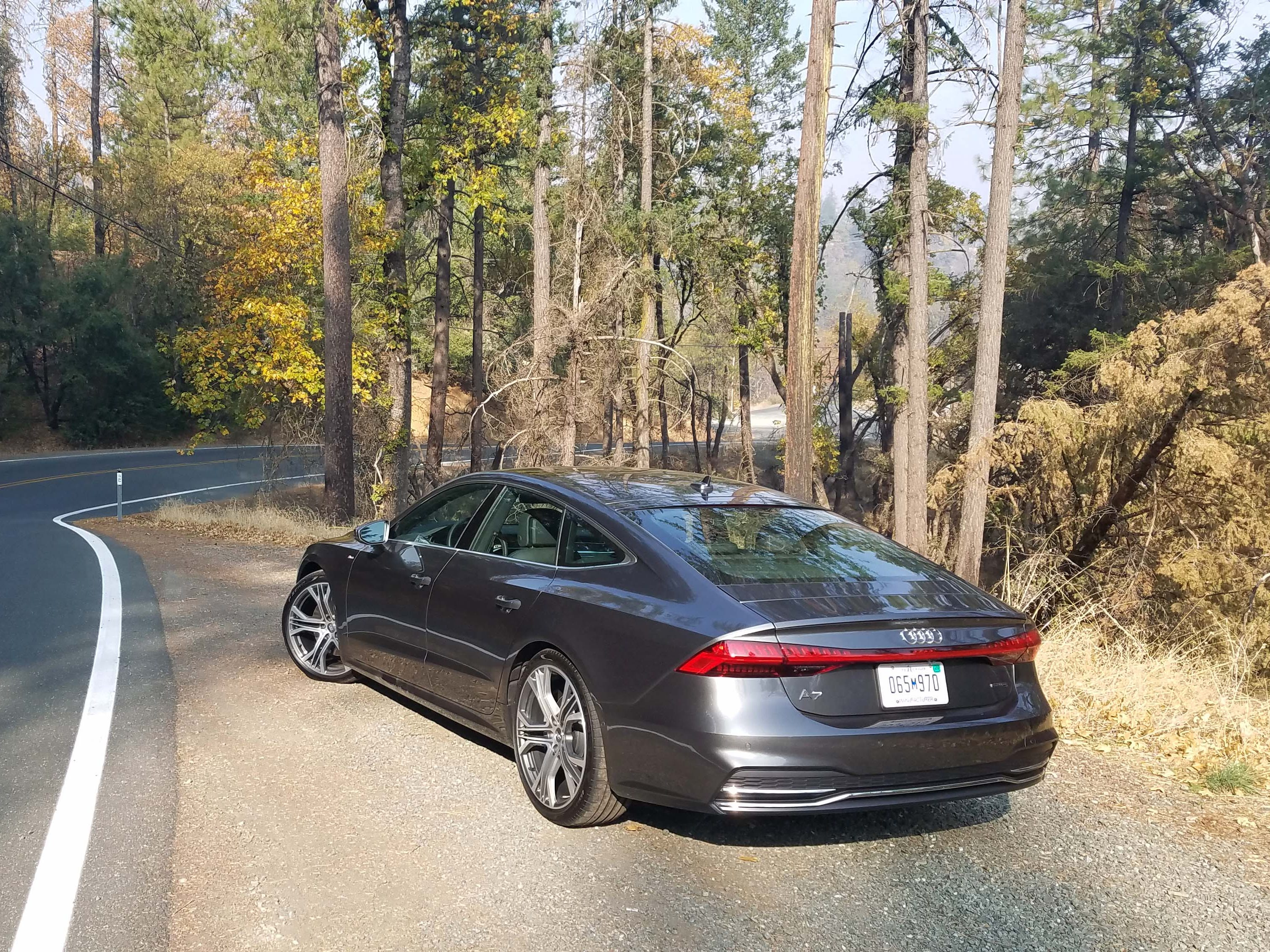 Though its dimensions are largely unchanged from Gen 1.0, the new 2019 Audi A7 has a stiffened chassis and improved suspension for excellent handling in the twisties.