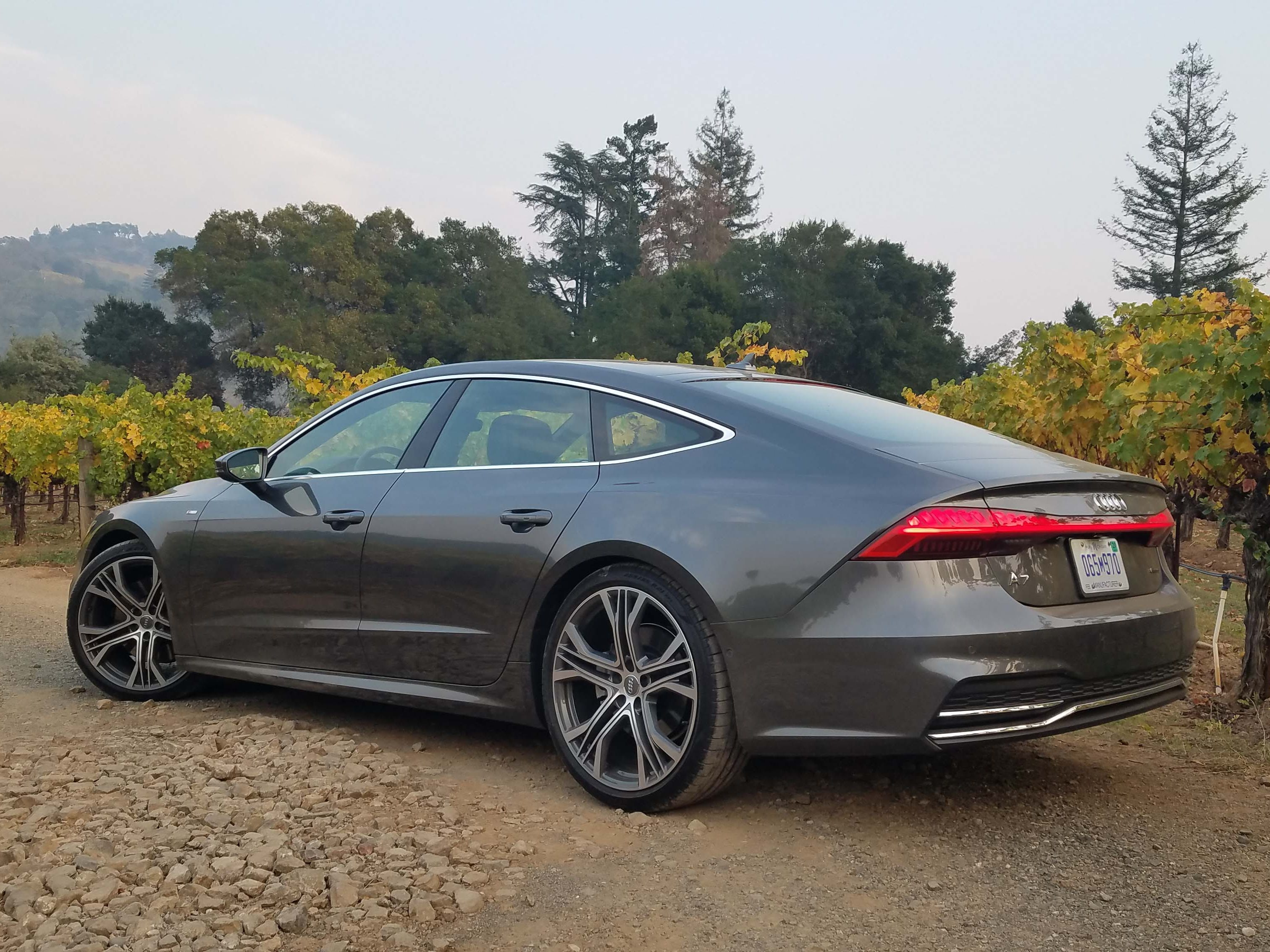 "The Audi A7's sportback is the envy of autodom. For 2019, designers raised the trunk lid — it was too low ""like a German shepherd,"" chief designer Russo like to say — and added more dramatic lighting. The fastback pinches headroom a bit in the back seat, but a 6'5"" body can sit up straight."