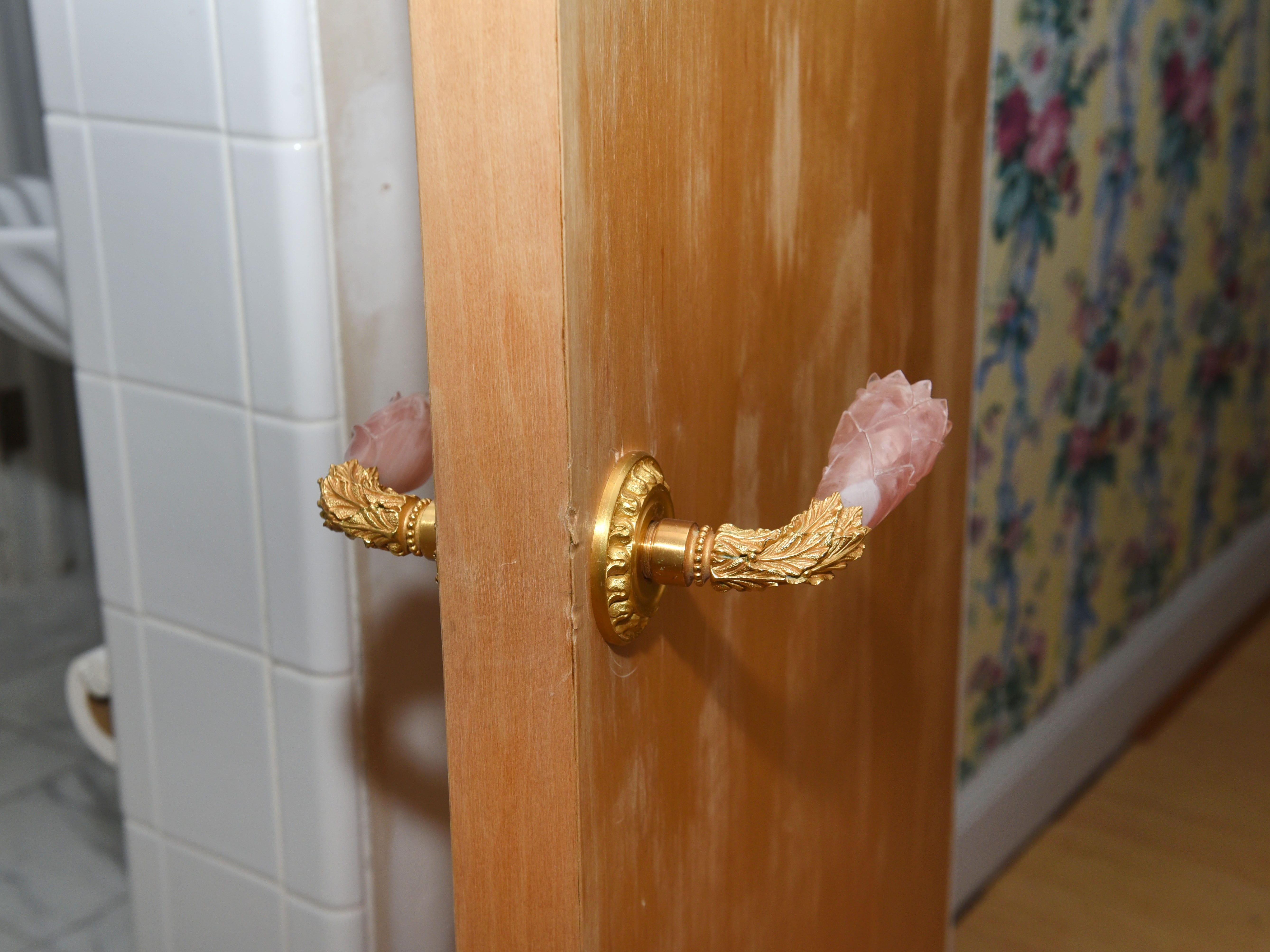 The door handles to Aretha Franklin's bedroom are distinctive.