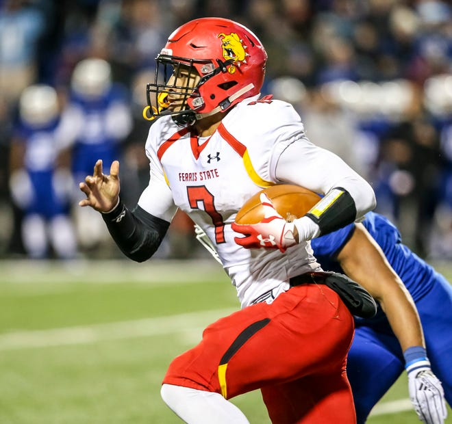 Jayru Campbell, of Ferris State, is one of nine finalists for the Harlon Hill Trophy.