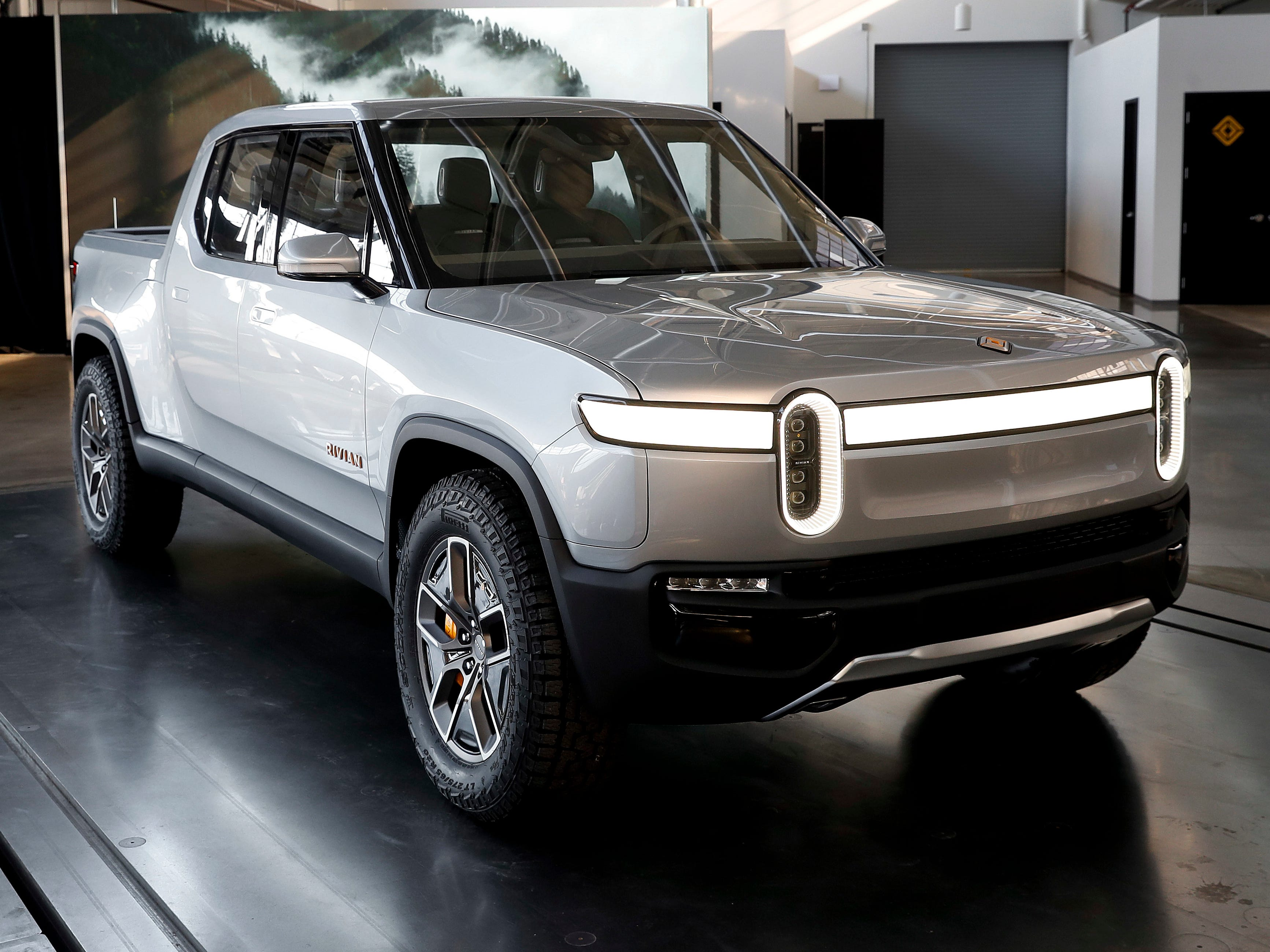 The fully electric Rivian R1T is an off-road pickup with up to 400 miles of range. Made in Normal, Illinois, it starts at $69k.
