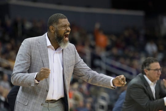 Head coach Walter McCarty and the Purple Aces have a challenging finish to the nonconference portion of the schedule.