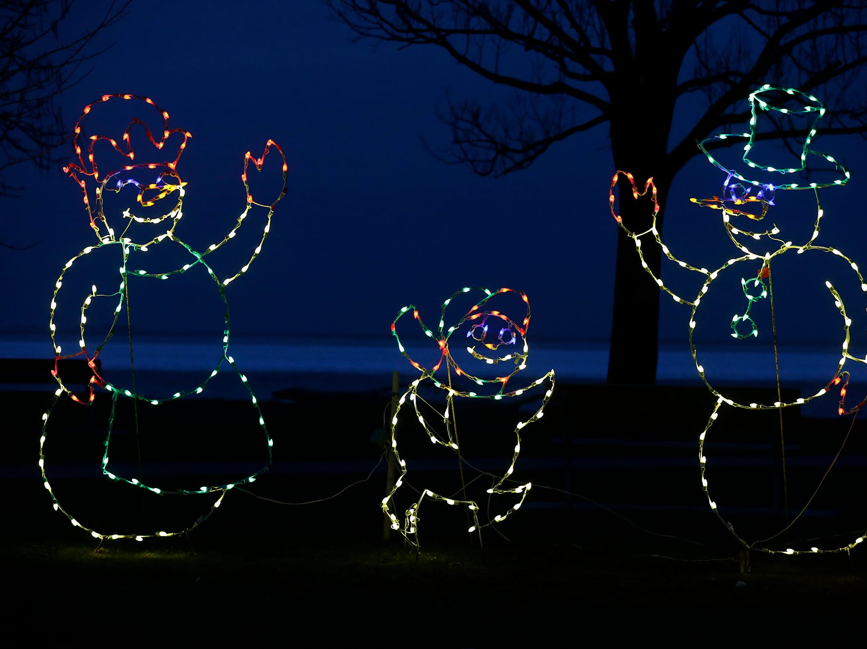 Holiday lights decorate Lakeside Park Nov. 28, in Fond du Lac, Wisconsin.