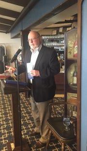 Craig Koerpel, President of the Catawba Island Historical Society, speaks at the Ottawa County Historical Society's fall meeting at the Catawba Island Club.
