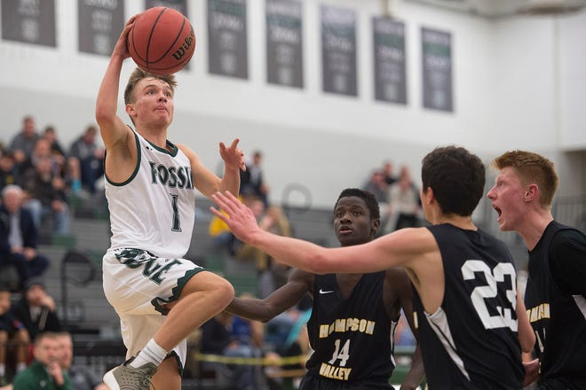 Luke Yoder and his Fossil Ridge High School teammates will visit Rocky Mountain at 6:30 p.m. Tuesday in one of two boys basketball games matching cross-town rivals. Fort Collins will host Poudre in a 7 p.m. game.