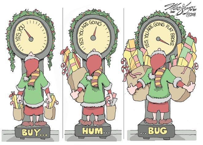 Christmas shopping frenzy