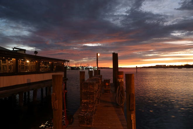 A 2018 sunrise photographed from behind Doc Ford's on Fort Myers Beach.