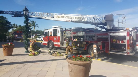 Crews from Estero Fire Rescue, San Carlos Park and Bonita Springs Fire responded to Miromar Outlets for a fire that began in the Michael Kors shop shortly after 11 a.m. Thursday.