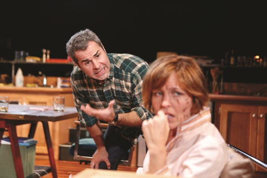 "Greg Longenhagen, left, in a scene from Florida Rep's ""Time Stands Still,"" part of the theater's 2012-13 season."