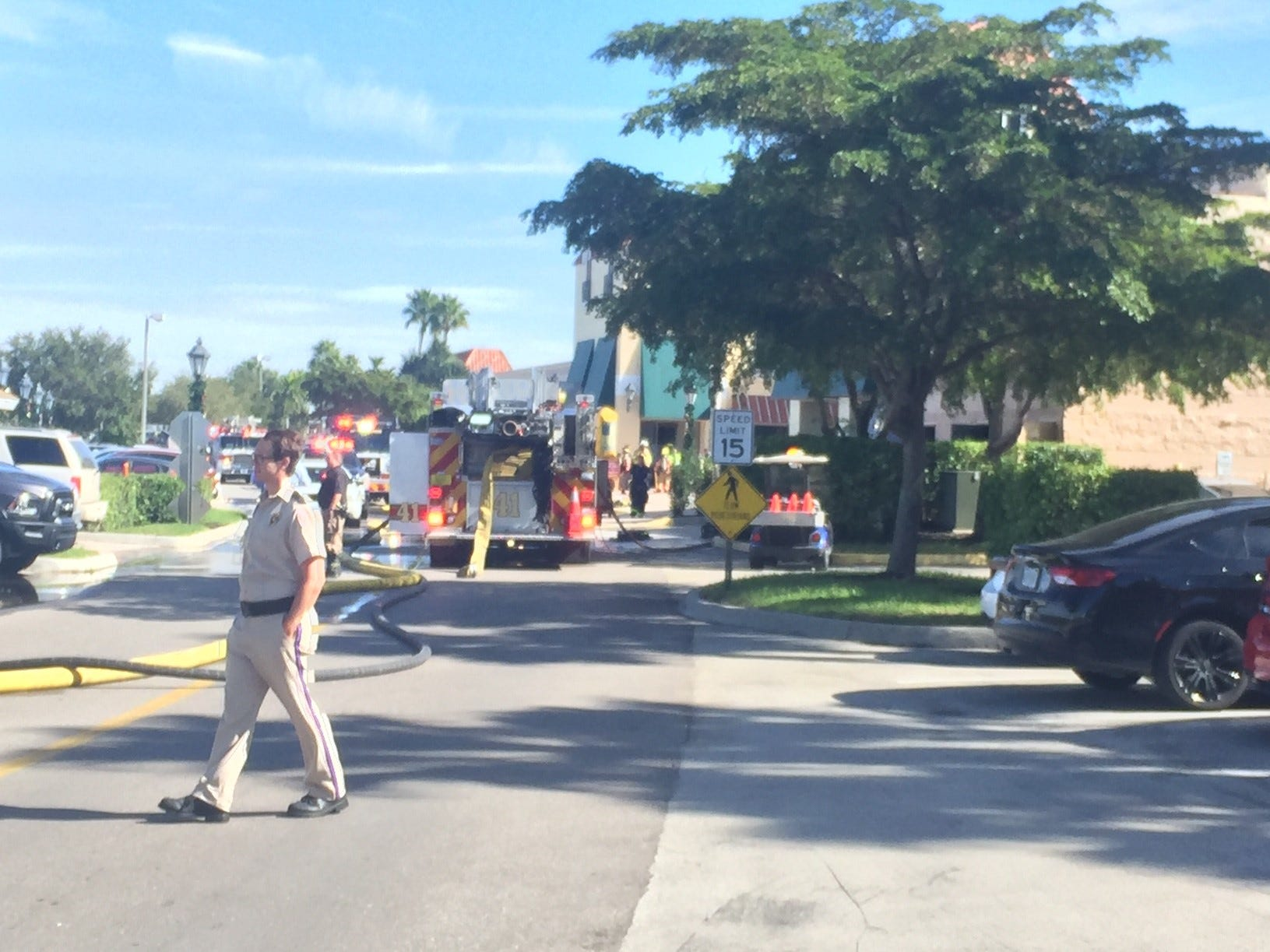 A fire was reported at the Michael Kors store in  Miromar Outlets on Thursday morning, Nov. 29, 2018.