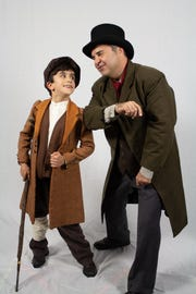 "Greg Longenhagen, right, with Lane Free in Florida Rep's ""A Christmas Carol"""