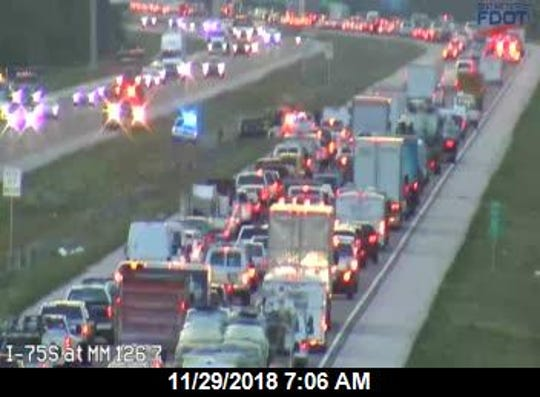 The Florida Highway Patrol was responding to three separate crashes along I-75 Thursday morning.