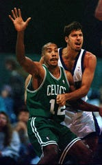 Jeff Nordgaard, right, was drafted by the Milwaukee Bucks in 1996.