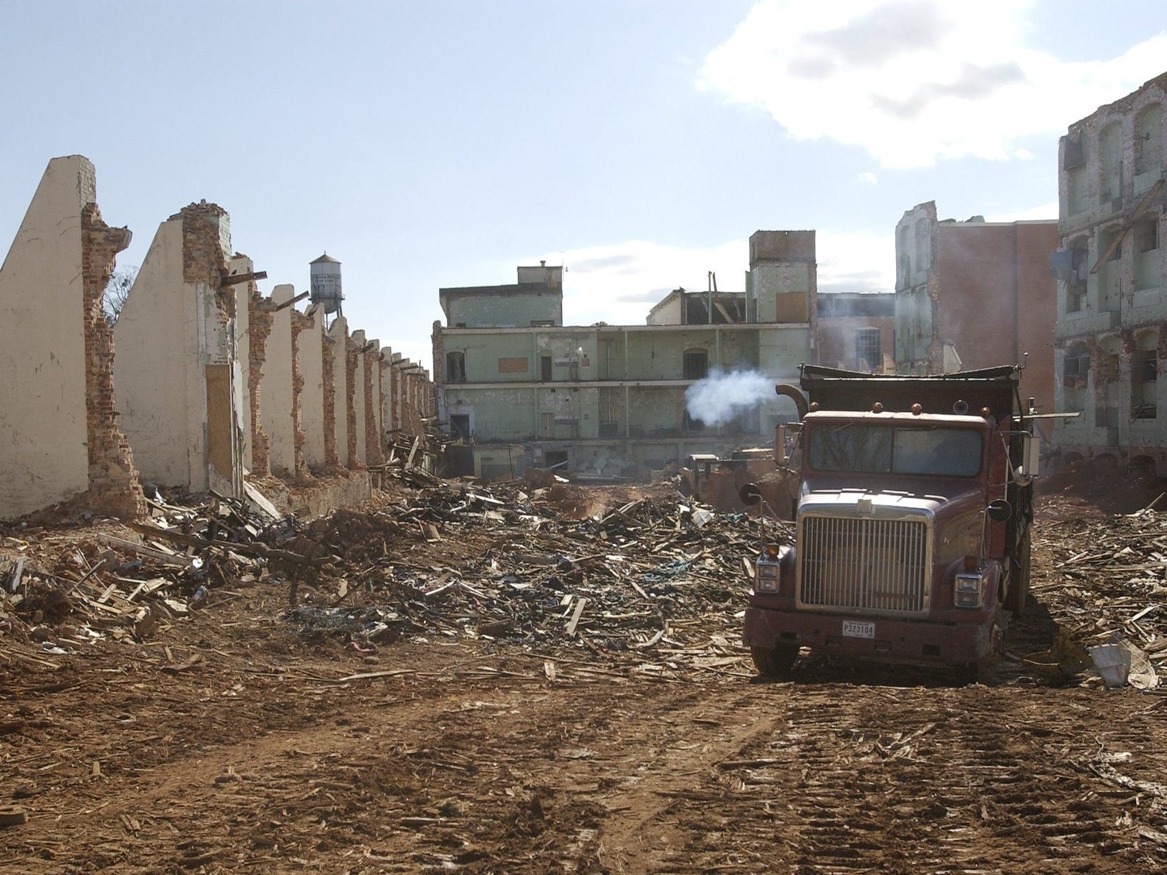 Demolition of Victor Mill in Greer continues in this archive photo from February 2005.