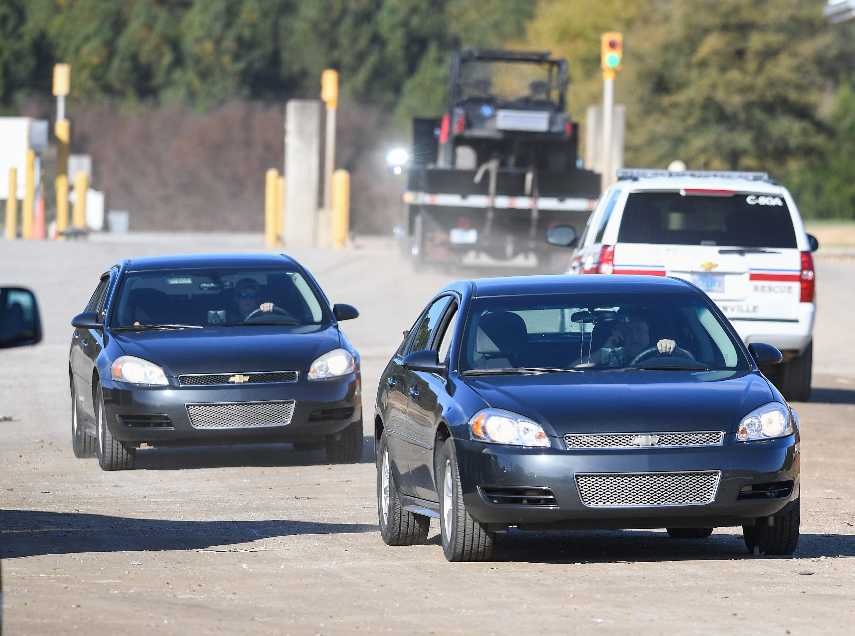 Greenville County coroner Mike Ellis arrives at the Twin Chimneys Landfill in Greenville County where an infant body was found Thursday, November 29, 2018.