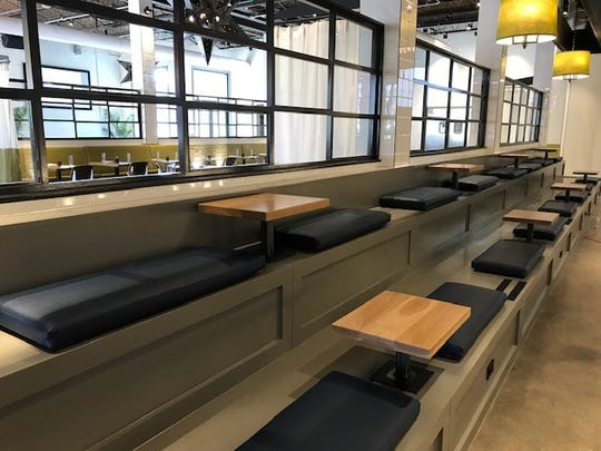 El Thrifty features over 200 places to sit including posh stadium seating in the game room.