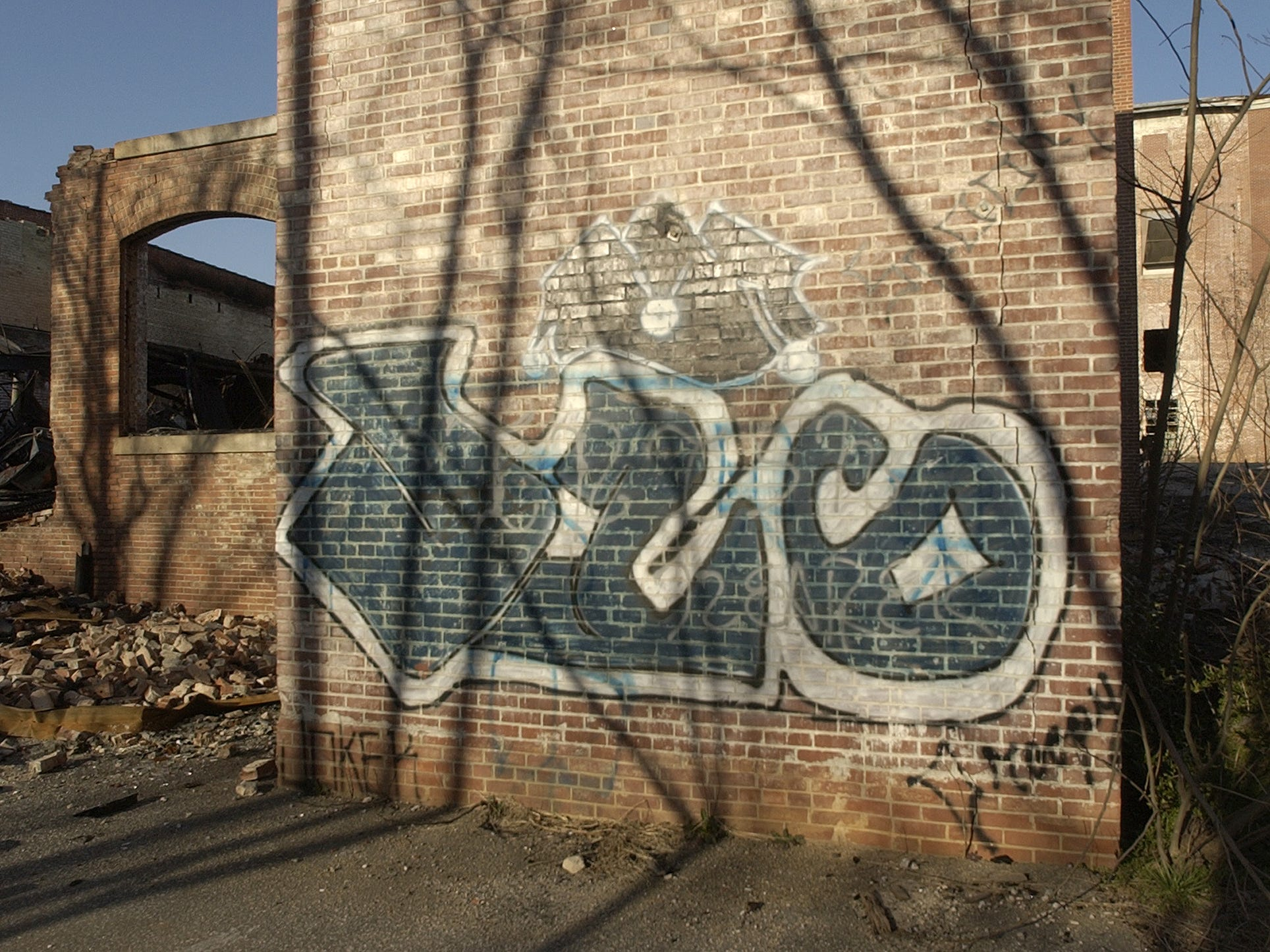 Graffiti at Victor Mill in Greer is pictured in this archive photo from Febuary 2007.