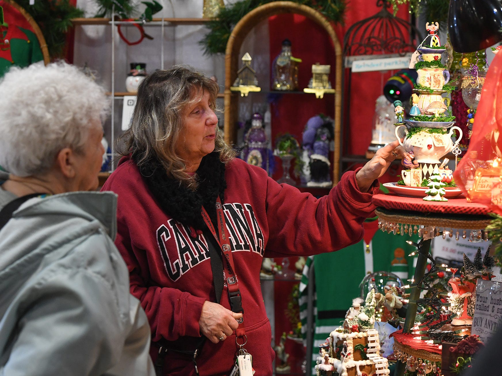 Vickie Henderson shops during the 48th annual Holiday Fair at the Greenville Convention Center Thursday, November 29,  2018.