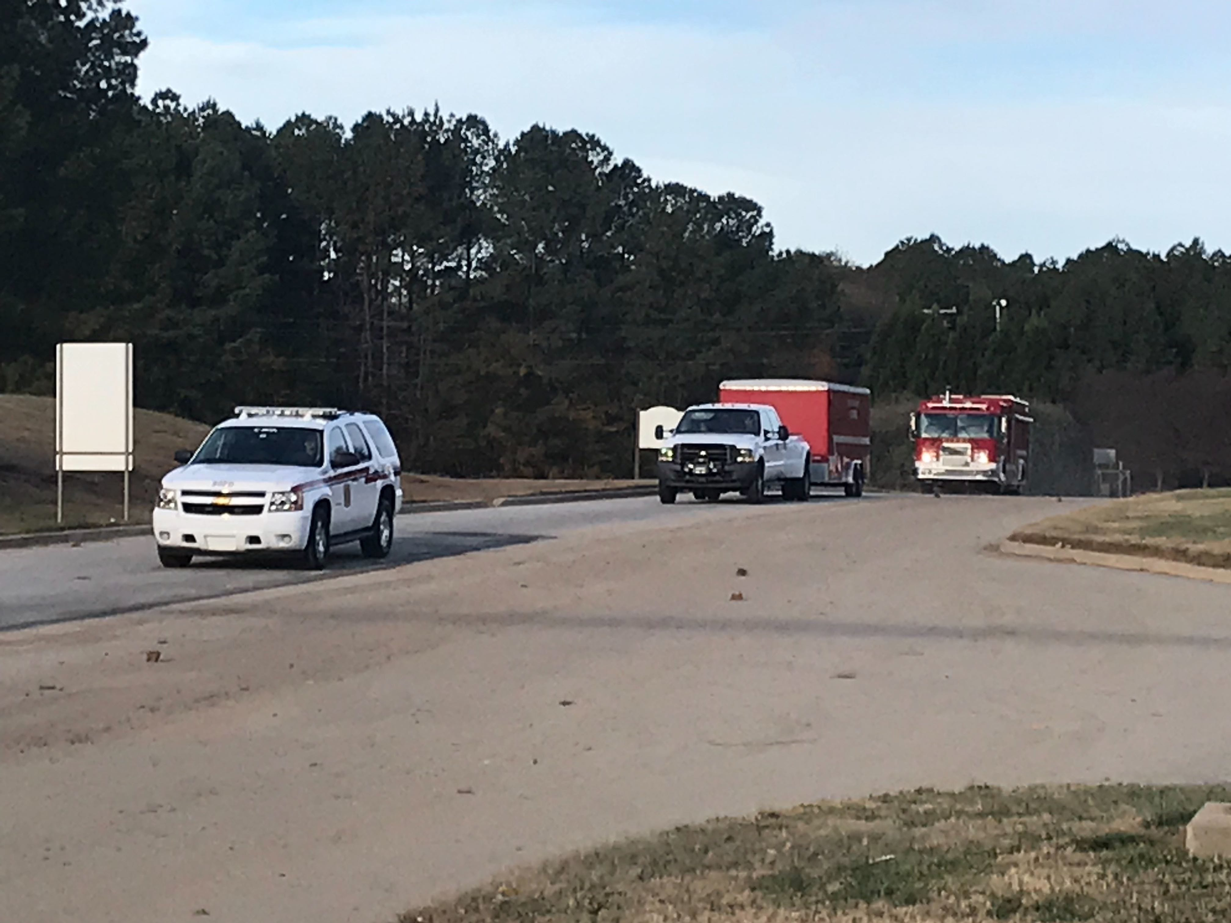 Authorities resumed a search for a baby's body at theTwin Chimneys Landfill in Greenville on Thursday, Nov. 29, 2018.