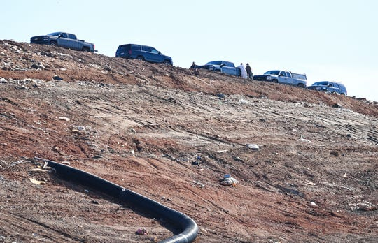 Authorities work the sense at the Twin Chimneys Landfill in Greenville County where an infant body was found Thursday, November 29, 2018.
