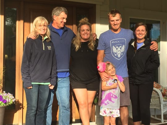 The family of Butch and Kathy Damberger includes Kristin, Ryan, Kelly and granddaughter Aeva.