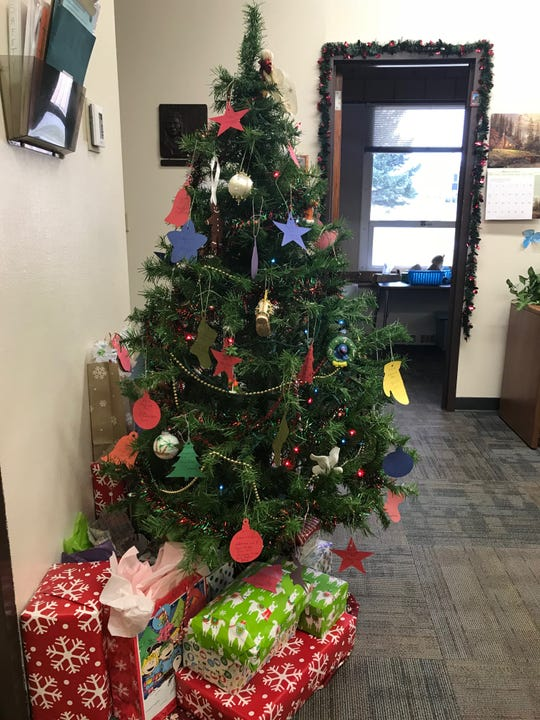 "The ""Giving Tree"" in the front office of Chief Joseph"