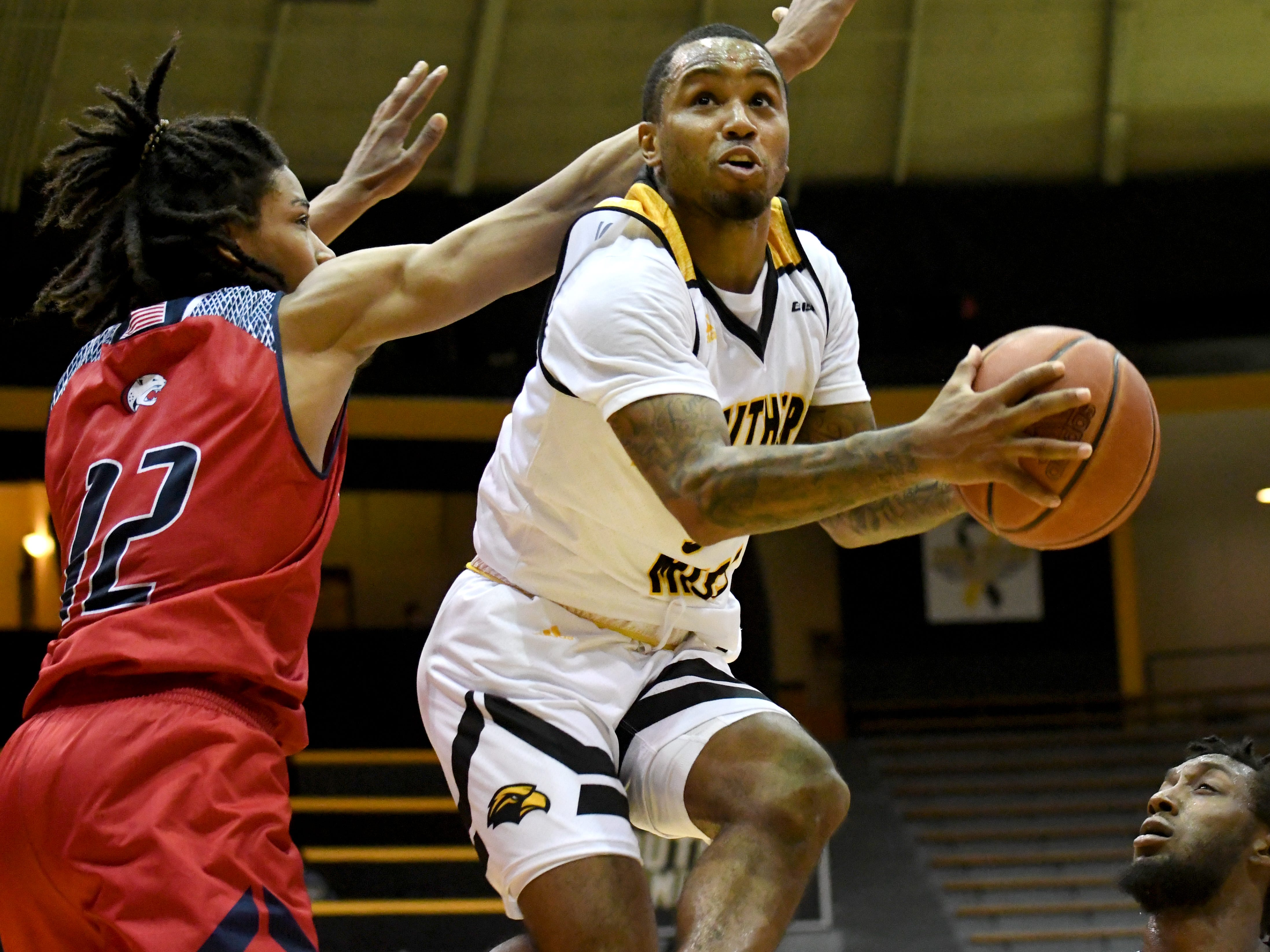 Southern Miss guard Tyree Griffins shoots for the basket in a game against South Alabama in Reed Green Coliseum on Wednesday, November 28, 2018.